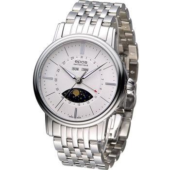 Epos 月相多功能典藏機械腕錶 3391.832.20.50.30 白