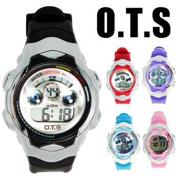 OTS 七彩閃燈多功能827電子小錶