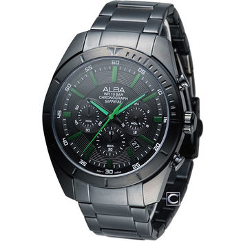 ALBA 雅柏 急速賽車計時腕錶 VD53-X150G AT3603X1