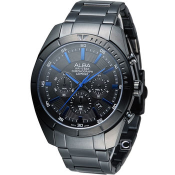 ALBA 雅柏 急速賽車計時腕錶 VD53-X150B AT3601X1