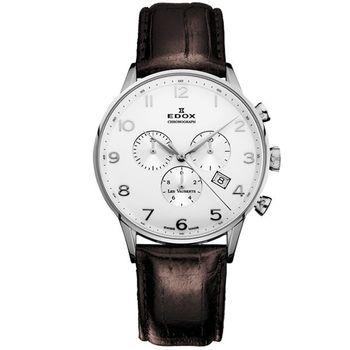 EDOX Les Vauberts 競速羅馬計時腕錶E10408.3A.AR