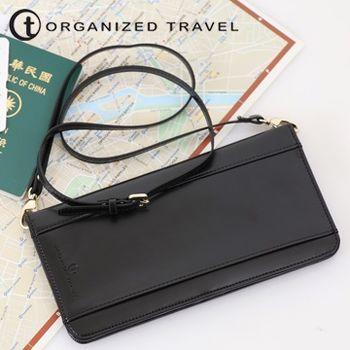 【OT 旅遊配件】肩背式護照包 (時尚黑)