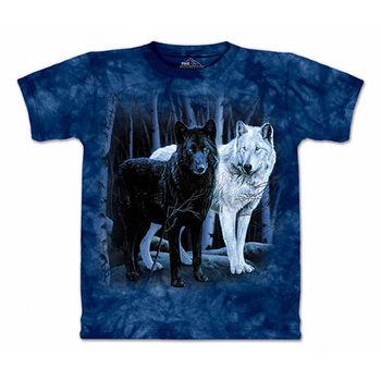 【摩達客】預購(大尺碼)-美國進口The Mountain 黑白狼 T恤