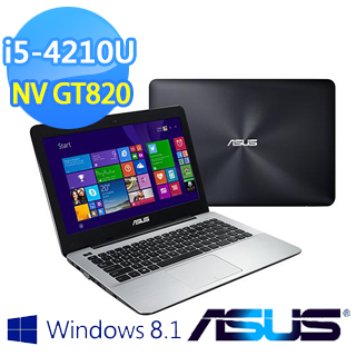[買就送] ASUS X455LD 14吋 I5-4210U 1TB NV820 2G強效獨顯筆電