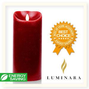 【Luminara 盧米娜拉 擬真火焰 蠟燭】 耶誕紅肉桂香氛光滑蠟燭禮盒(特大)