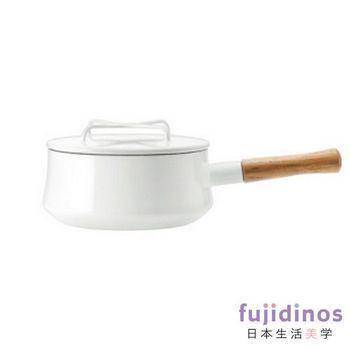 【DANSK】琺瑯單耳燉煮鍋-白色