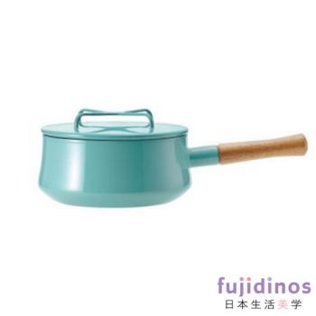 【DANSK】琺瑯單耳燉煮鍋-藍綠色