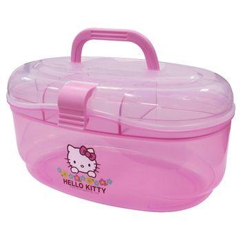 【Hello Kitty】小花手提收納盒(KT0445)