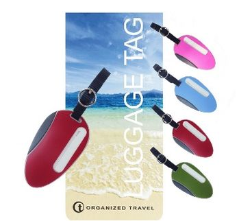 【OT 旅遊配件】海灘系列行李吊牌  (動感紅)
