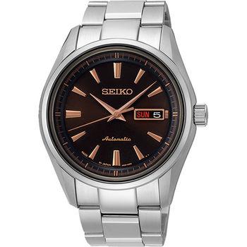SEIKO Presage 4R36 都會時尚機械腕錶-咖啡4R36-03H0C