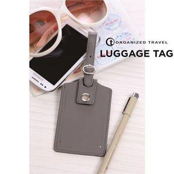 【OT 旅遊配件】經典系列行李吊牌  紳士灰