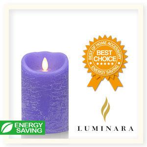 【Luminara 盧米娜拉 擬真火焰 蠟燭】紫漫熏香香草香氛水紋蠟燭(中)