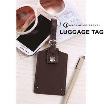【OT 旅遊配件】經典系列行李吊牌  經典咖啡