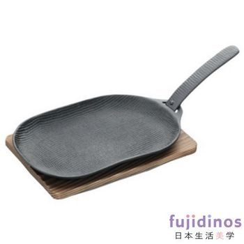 【及源鑄造】鑄鐵平底燒烤盤‧烤魚盤(小型)
