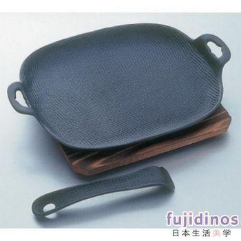 【及源鑄造】鑄鐵平底燒烤盤‧烤魚盤(大型)