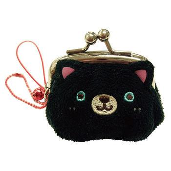 【UNIQUE】動物樂園迷你珠扣零錢包 小黑貓