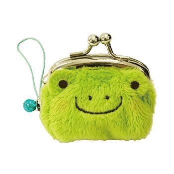 【UNIQUE】動物樂園迷你珠扣零錢包 小蛙君
