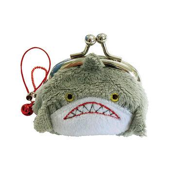 【UNIQUE】動物樂園迷你珠扣零錢包 鯊魚哥