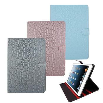 L78鑽石紋支架iPad Air(iPad5)平板皮套(加贈螢幕保護貼)(黑)