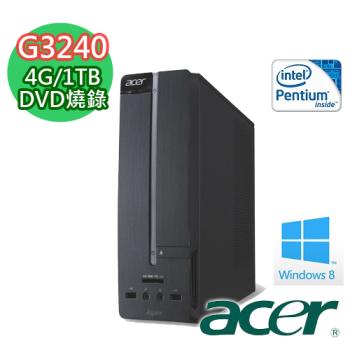 【ACER宏碁】XC-605 「黑暗魔爵」G3240 文書大容量 桌上型電腦(AXC-605-01G)