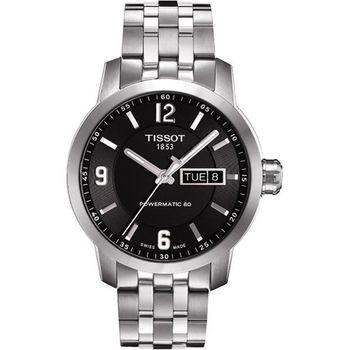 TISSOT PRC200 Powermatic 80 時尚機械腕錶-黑T0554301105700