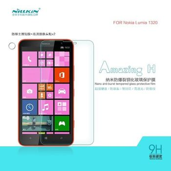【NILLKIN】NOKIA Lumia 1320  Amazing H 防爆鋼化玻璃貼 AGC玻璃 0.33MM 直角(主膜+鏡頭貼)