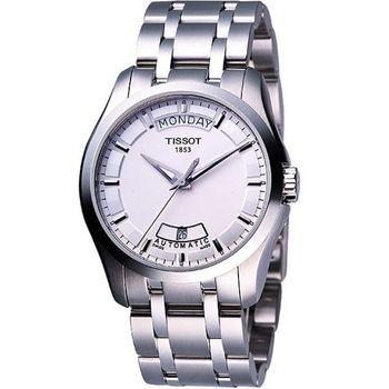 TISSOT建構師系列大三針機械腕錶T0354071103100