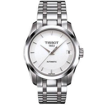 TISSOT Couturier Lady 時尚簡約機械腕錶T0352071101100