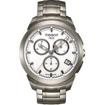 TISSOT Titanium 鈦風尚計時腕錶-白 T0694174403100