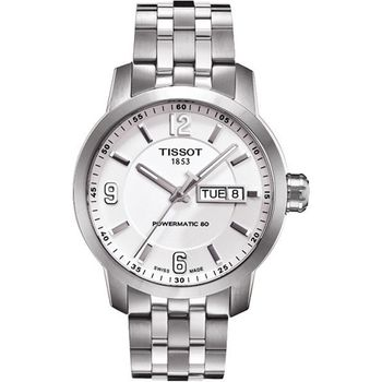 TISSOT PRC200 Powermatic 80 時尚機械腕錶-銀T0554301101700