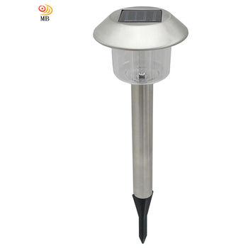 月陽銀帽太陽能充電式自動光控開關LED庭園燈草坪燈插地燈(5004A)