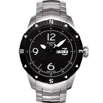 TISSOT T-Navigator 霸氣型男機械腕錶-黑 T0624301105700