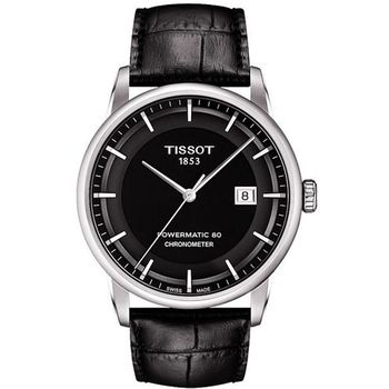 TISSOT T-Classic Luxury 天文台認證機械腕錶-黑T0864081605100