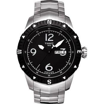 TISSOT T-Navigator 霸氣型男機械腕錶-黑T0624301105700