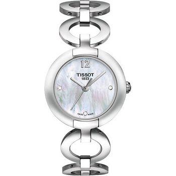 TISSOT Pinky 粉紅佳人真鑽腕錶-珍珠貝T0842101111601