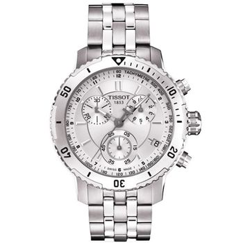 TISSOT PRS200 競賽傳奇計時腕錶-銀T0674171103100