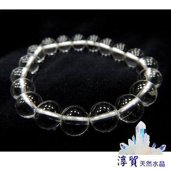 【淳貿天然水晶】 圓滿白水晶手珠10mm