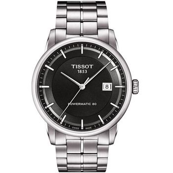 TISSOT T-Classic Luxury 機械腕錶-鐵灰 T0864071106100