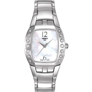 TISSOT Femini-T 都會儷人真鑽腕錶-白彩貝(T0533106111200)