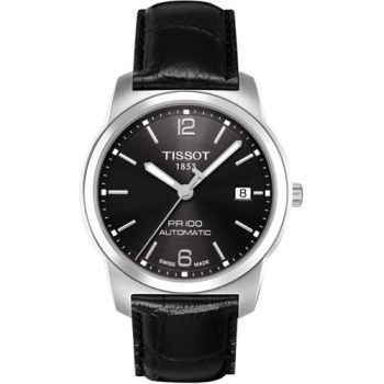 TISSOT PR100 都會年代機械腕錶-黑(T0494071605700)