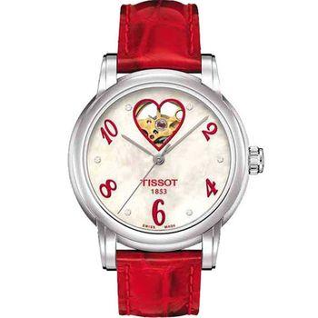 TISSOT 鏤空真鑽機械腕錶T0502071611602