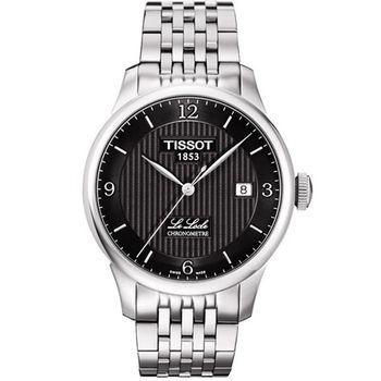 TISSOT Le Locle COSC天文台認證機械腕錶-黑 T0064081105700