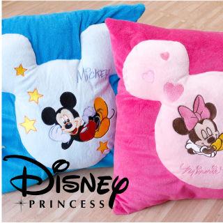 【Casa Aroma】迪士尼 米奇米妮 方型短絨毛小抱枕