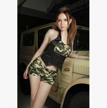 【蘇菲雅】野戰奇旅!情趣性感迷彩海軍服 - AV女優瀧澤蘿拉代言AVG-M9080008