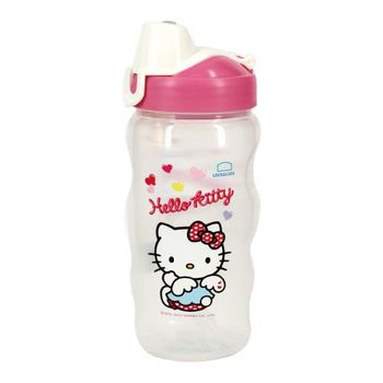 樂扣樂扣HELLO KITTY PP水壺-愛心天使_350ml(附吸管)(1A01-HPP726T-DKT)