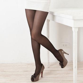 【華貴絲襪】咖啡香榭雙T全透明彈性絲襪(超值18入)