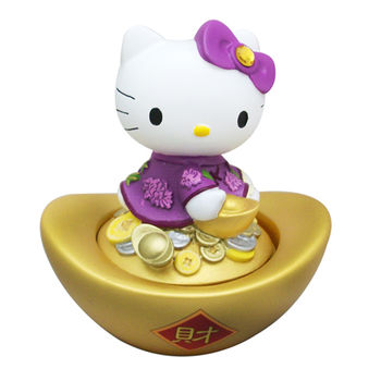 【Hello Kitty】印泥盒-紫色