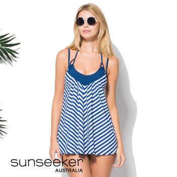 【sunseeker 泳裝】海洋度假系列海軍風女洋裝 (84029)