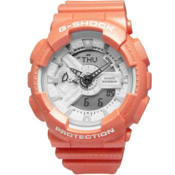 G-SHOCK 沁涼冰沙‧細緻光澤感雙顯腕錶_粉橘〈GA-110SG-4A〉