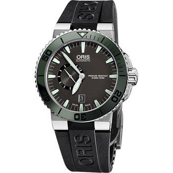 Oris Aquis 專業500米小秒針潛水機械腕錶0174376734137-0742634EB